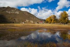 θιβετιανό χωριό Στοκ Εικόνες