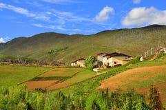 Θιβετιανό χωριό Στοκ Φωτογραφίες