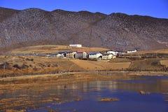 Θιβετιανό χωριό Στοκ Εικόνα