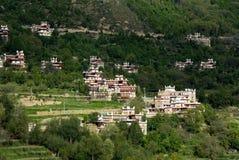 Θιβετιανό χωριό στοκ φωτογραφία