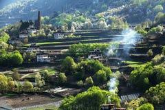 Θιβετιανό χωριό Jiaju sichuan της Κίνας Στοκ Φωτογραφίες
