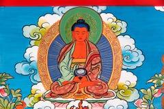 Θιβετιανό Thangka που χρωματίζει: Η συγχώνευση μιας τέχνης και ενός πολιτισμού Στοκ Εικόνες