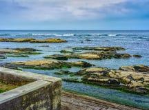 Θλιβερή ημέρα στην ακτή του Τσίμπα, Ιαπωνία Στοκ φωτογραφία με δικαίωμα ελεύθερης χρήσης