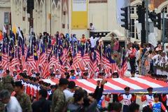 $θμαλαισιανοί στον πρόσφατο μαλαισιανό εορτασμό ημέρας της ανεξαρτησίας Στοκ Εικόνα