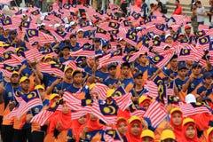 $θμαλαισιανοί στον πρόσφατο μαλαισιανό εορτασμό ημέρας της ανεξαρτησίας Στοκ Φωτογραφίες