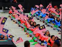$θμαλαισιανοί στον πρόσφατο μαλαισιανό εορτασμό ημέρας της ανεξαρτησίας Στοκ Εικόνες