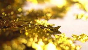 Θολωμένα χρυσά αστέρια απόθεμα βίντεο