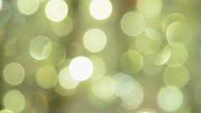 Θολωμένα χρυσά φω'τα Χριστουγέννων απόθεμα βίντεο