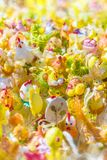 Θολωμένες διακοσμήσεις Πάσχας υποβάθρου στοκ εικόνες