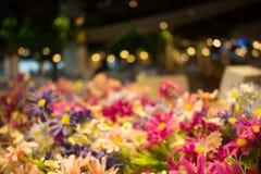 Θολωμένη ανασκόπηση λουλουδιών Στοκ Φωτογραφία