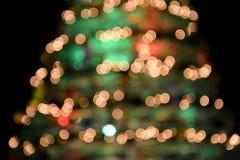 Θολωμένη εικόνα εστίασης ενός όμορφου χριστουγεννιάτικου δέντρου Στοκ Εικόνα