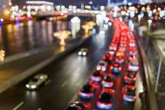 Θολωμένη εικόνα των αυτοκινήτων στο δρόμο Στοκ φωτογραφία με δικαίωμα ελεύθερης χρήσης