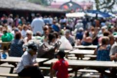 θολωμένη τοπική αγορά πλήθ& στοκ φωτογραφίες με δικαίωμα ελεύθερης χρήσης