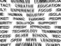 θολωμένο κείμενο Στοκ εικόνα με δικαίωμα ελεύθερης χρήσης