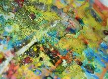 Θολωμένο μαλακό υπόβαθρο κρητιδογραφιών watercolor χρυσό Στοκ φωτογραφίες με δικαίωμα ελεύθερης χρήσης
