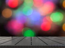 Θολωμένο περίληψη υπόβαθρο Χριστουγέννων με tabletop και διάστημα για σας Στοκ φωτογραφία με δικαίωμα ελεύθερης χρήσης