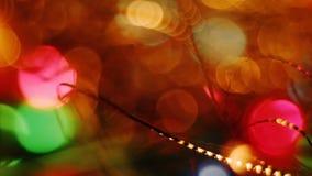 Θολωμένο περίληψη υπόβαθρο Bokeh φω'των Χριστουγέννων φιλμ μικρού μήκους