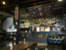 Θολωμένο υπόβαθρο του εστιατορίου στοκ εικόνα