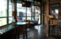 Θολωμένο υπόβαθρο του εστιατορίου στοκ φωτογραφία