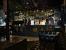 Θολωμένο υπόβαθρο του εστιατορίου στοκ εικόνες