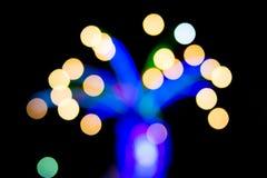 Θολωμένο φως του δέντρου για την έννοια Χριστουγέννων Στοκ Εικόνες