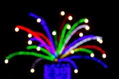 Θολωμένο φως του δέντρου για την έννοια Χριστουγέννων στοκ φωτογραφίες