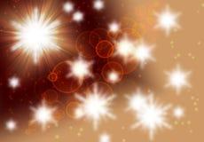 Θολωμένο bokeh υπόβαθρο, αφηρημένο καφετής-μπεζ υπόβαθρο με τους κύκλους, κυριώτερα σημεία, φως, φαντασία γαλαξιών αστεριών, σύστ ελεύθερη απεικόνιση δικαιώματος