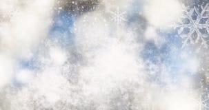 θολωμένο bokeh υπόβαθρο των φω'των και snowflakes Χριστουγέννων Στοκ εικόνα με δικαίωμα ελεύθερης χρήσης