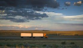 θολωμένο truck στοκ εικόνες