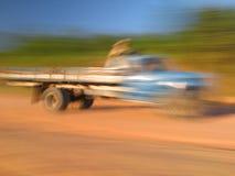 θολωμένο truck Στοκ Φωτογραφίες