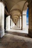 Θολωτό ανώτατο arcade παλάτι Λισσαβώνα Πορτογαλία Στοκ Εικόνες
