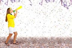 Θορυβώδης χρόνος κομμάτων καρναβαλιού στοκ εικόνες