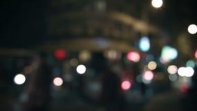 Θολωμένα αφηρημένα φω'τα νύχτας της οδού πόλεων απόθεμα βίντεο