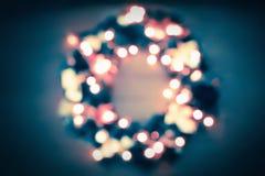 Θολωμένα αφηρημένα Χριστούγεννα και νέο υπόβαθρο έτους Στοκ Εικόνα
