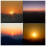 Θολωμένα ηλιοβασίλεμα υπόβαθρα Στοκ φωτογραφίες με δικαίωμα ελεύθερης χρήσης