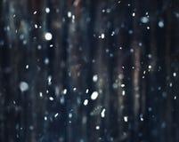Θολωμένα Snowflakes Στοκ Φωτογραφία