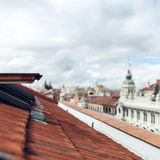 Θολωμένη άποψη πόλεων scape Στοκ Φωτογραφίες