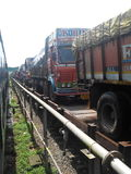 θολωμένη γωνία όψη truck μεταφορών κινήσεων επίδρασης ευρέως στοκ εικόνες