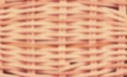 Θολωμένη wickerwork σύσταση καλαθιών Στοκ φωτογραφία με δικαίωμα ελεύθερης χρήσης
