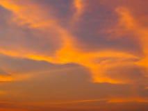 Θολωμένος ουρανός στο ηλιοβασίλεμα Στοκ εικόνες με δικαίωμα ελεύθερης χρήσης