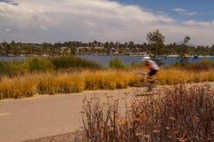 Θολωμένος ποδηλάτης Στοκ εικόνες με δικαίωμα ελεύθερης χρήσης