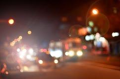 Θολωμένο τοπίο της πόλης νύχτας Στοκ φωτογραφία με δικαίωμα ελεύθερης χρήσης