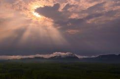 Θολωμένο φως του ήλιου Στοκ εικόνα με δικαίωμα ελεύθερης χρήσης