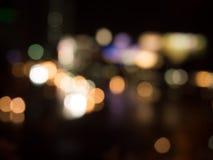 Θολωμένο φως bokeh για το υπόβαθρο Στοκ Εικόνες