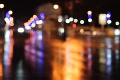 Θολωμένο bokeh αφηρημένο υπόβαθρο πόλεων Στοκ φωτογραφία με δικαίωμα ελεύθερης χρήσης