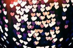 Θολωμένο bokeh μορφή υπόβαθρο καρδιών Στοκ Φωτογραφία