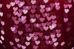 Θολωμένο bokeh μορφή υπόβαθρο καρδιών Στοκ φωτογραφία με δικαίωμα ελεύθερης χρήσης