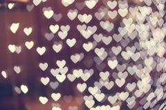 Θολωμένο bokeh μορφή υπόβαθρο καρδιών Στοκ φωτογραφίες με δικαίωμα ελεύθερης χρήσης