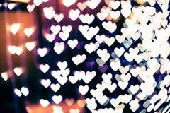 Θολωμένο bokeh μορφή υπόβαθρο καρδιών Στοκ εικόνες με δικαίωμα ελεύθερης χρήσης