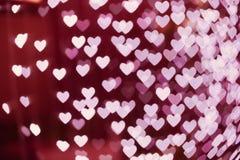Θολωμένο bokeh μορφή υπόβαθρο καρδιών Στοκ εικόνα με δικαίωμα ελεύθερης χρήσης